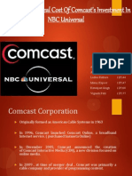 Comcast And NBC merger/Acquisition