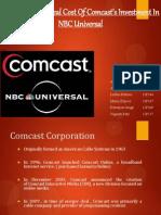 Comcast And NBC merger/Acquisition