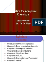 Statistics for Anal. Chem.- Lecture Notes- Xu Ly So Lieu
