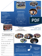 Summer Music Program Brochure 2012