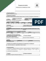 PROGRAMA Procesos de Manufactura