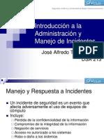 Introducción a la Administración y Manejo de Incidentes