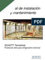 Manual_instalacion_y_mantenimiento Puerta Frigorifica de Vidrio