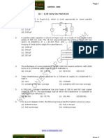 GATE Electrical Engineering Sample Paper 2004