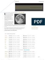 Full Moon Calendar - Dates and Times for 2012, 2013, 2014, 2015
