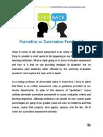 Formative or Summative Feedback
