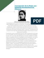 Lenin y la emancipación de la Mujer