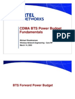 CDMA BTS Power Budget