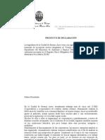 Proyecto de Declaracion Referido Al Cuerpo de Promotores Ambientales
