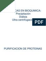 Precipitacion Dialisis Centrifugacion