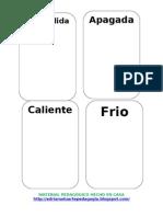 Fichas de Opuestos-material Pedagogico Hecho en Casa