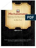 D&D 3rd Edition - Mechanomancy