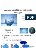 Cuencas hidrográficas y situación del agua