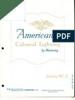 Manning Americana Colonial Lighting Catalog DC-2