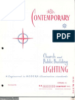 Manning Contemporary Church & Public Building Lighting Catalog CC 1961