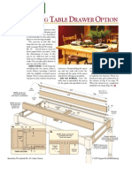 43Dining Table Drawer Option