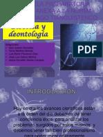 La bioética y deontologia