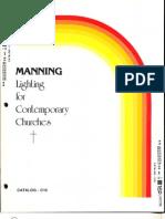 Manning Contemporary Church Lighting Catalog C10 5-88