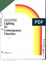 Manning Contemporary Church Lighting Catalog C11 5-88