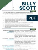 Billy Scott - Senior Analyst CV