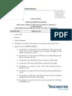 Aug. 12 Rochester City Council Agenda