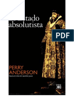 Perry Anderson - El Estado Absolutista