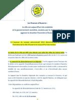 Les finances de la ville d'Auxerre sont fragilisées par le maire sortant