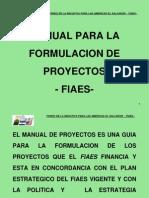 Manual Para La Formulacion de Proyectos Fiaes 2004