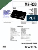 Sony MZ-R30 Service Manual