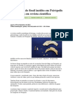Descoberta de fóssil inédito em Peirópolis é publicada em revista científica