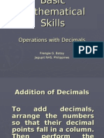 1. Basic Mathematical Skills