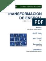TRANSFORMACIÓN DE ENERGÍA