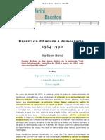 Marini, Rui Mauro. Brasil Da Ditadura a Democracia