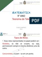 Aula 6 - 9° ano - Teorema de Tales.pptx