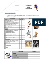 Basketball Skills Rubric