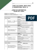 Aritmetica - Semestral 2013 -II