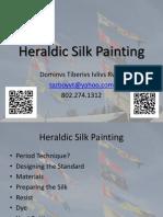 Heraldic Silk Painting