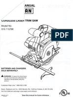Craftsman Cordless Laser Trim Saw Model 315.115780.pdf