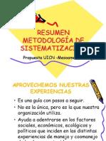 Resumen Metodologia de Sistematizacion