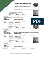 public arrest report for- 8112013