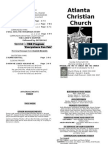 August 11 2013 Church Bulletin