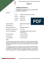 MEJORAMIENTO DEL PUENTE COLGANTE VILLA CARIÑO – SECTOR VILLA AGRARIA - HUANCAVELICA