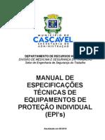 Manual de Especificações Técnicas de Equipamentos de Proteção Individual