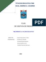 Plan de Gestion de Riesgo 2013