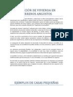 SOLUCIÓN DE VIVIENDA EN TERRENOS ANGOSTOS