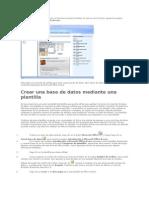 Crear una base de datos con Microsofft.doc
