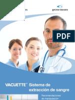 Sistema de extracción de sangre ( recomendaciones) VACUETTE