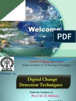 Digital Change Detection Techniques using remote sensor data