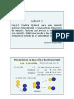 Clase Cap 2.2 Cinetica Q - Molecu Factores y Veloc Iniciales
