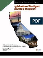 California Emergency Management Agency Joint Legislative Budget Committee Report